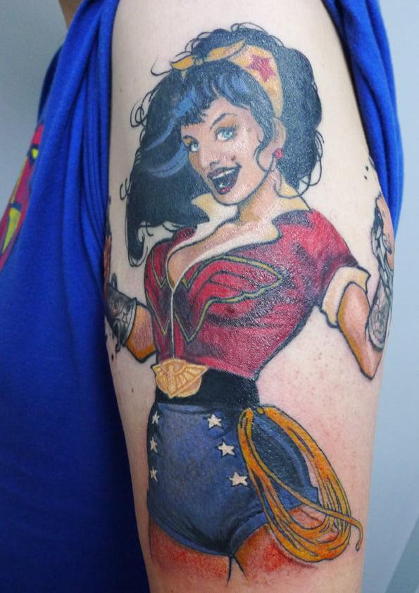 Wonder Woman Tattoo By Max Hewat