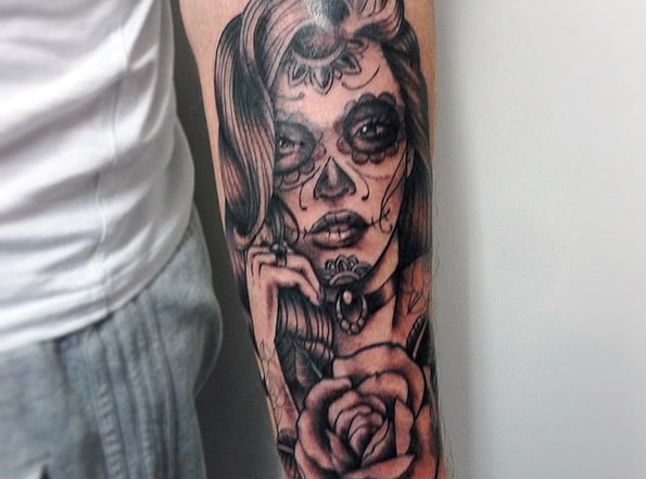 Day of the Dead Girl Tattoo by Matt Curtis