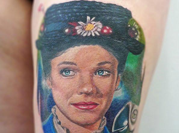 Mary Poppins Tattoo by Tamas Dikac