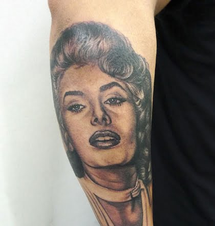 Sophia Loren Tattoo by Tamas Dikac