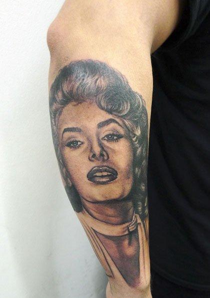 Sophia Loren Tattoo