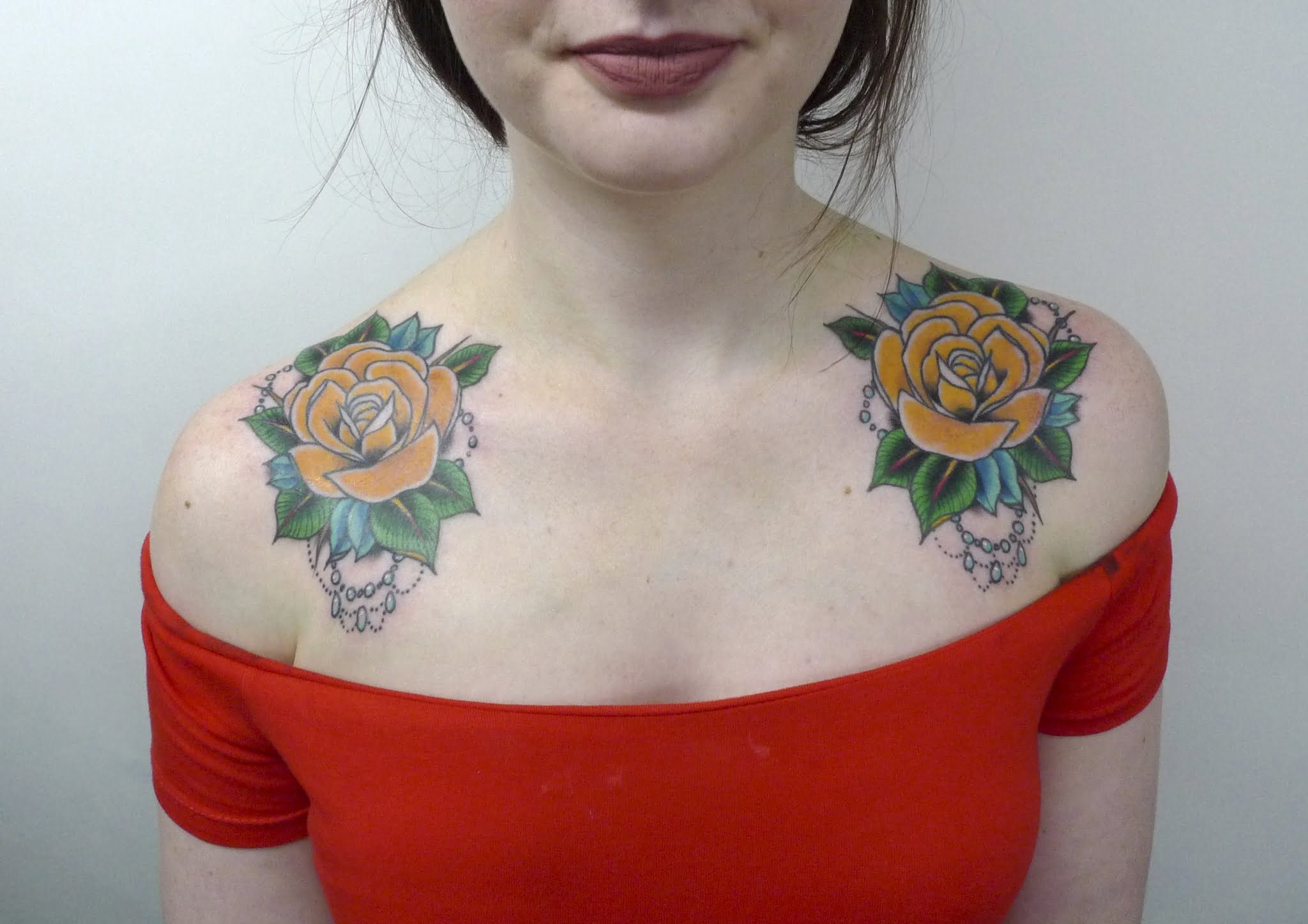 Yellow roses tattoo