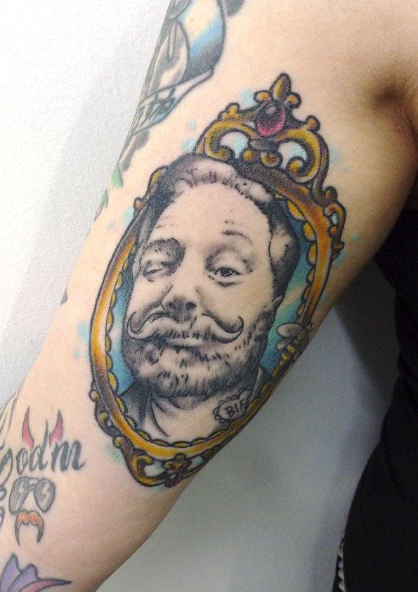 Dad portrait by Tattoo Matt