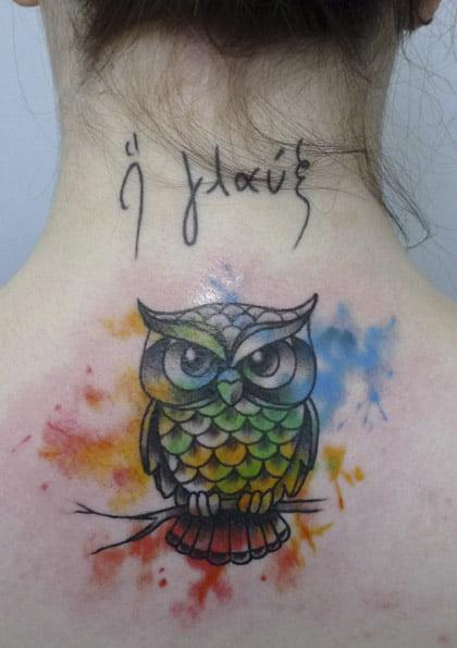 Owl tattoo by Matt