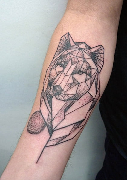 Faceted wolf by Calum