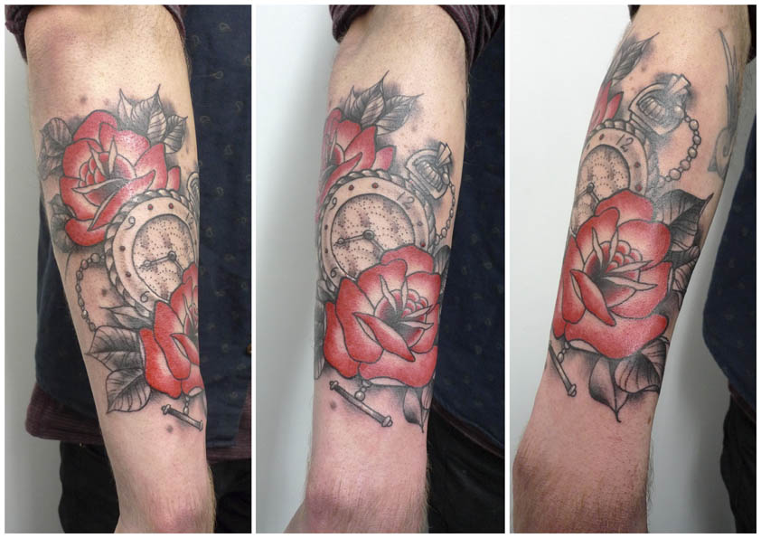 Watch and roses by Matt