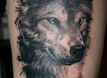 Wolf tattoo by Tamas Dikac