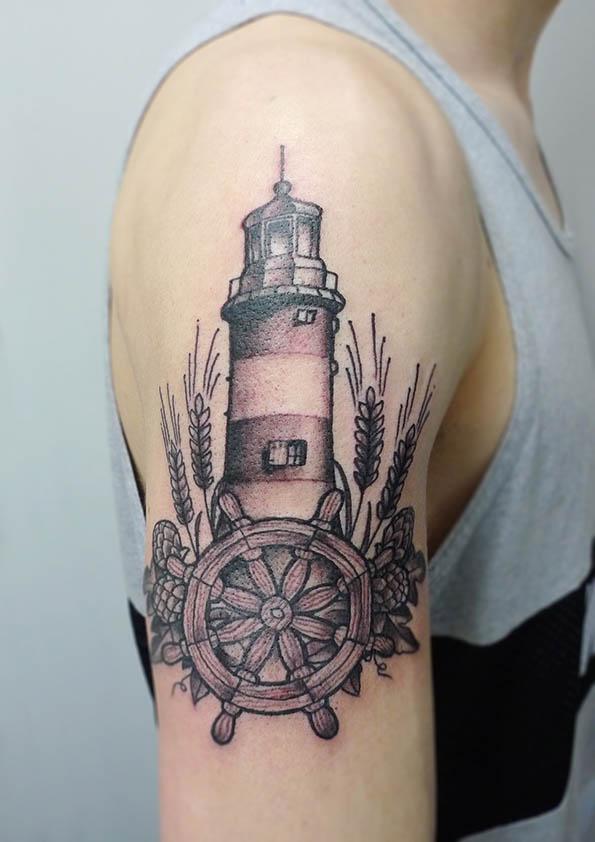 Lighthouse Tattoo: Lighthouse Tattoo By Matt Curtis
