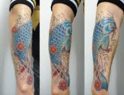 Koi tattoo by Matt