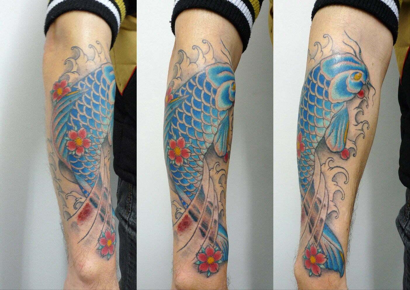 Koi tattoo by Matt