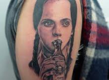 Wednesday Adams tattoo