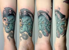 Pirate octopus tattoo by Calum