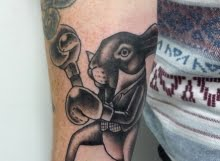 boxing hare tattoo by matt curtis