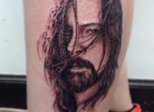 dave grohl tattoo by max at tribal body art