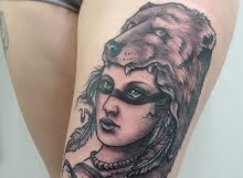 Bear girl tattoo by Max