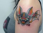 Bat tattoo by Matt