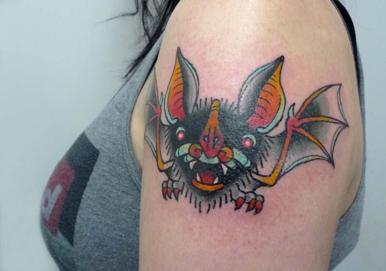 Bat tattoo by Matt