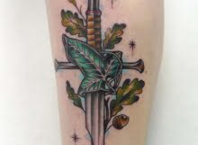 Narsil sword tattoo