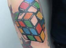Rubik's cube tattoo